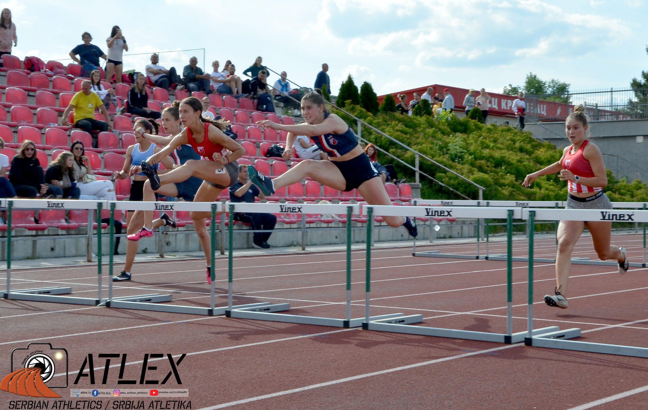 Ana Lazarević i Ivona Jurić, 100m prepone, U20 PS 2021
