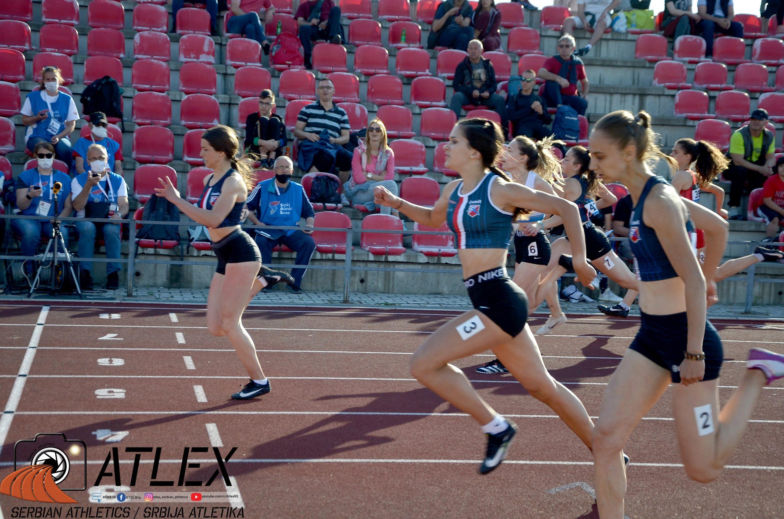 Anastasija Miča, Tamara Radojčić, 100m U20 PS 2021