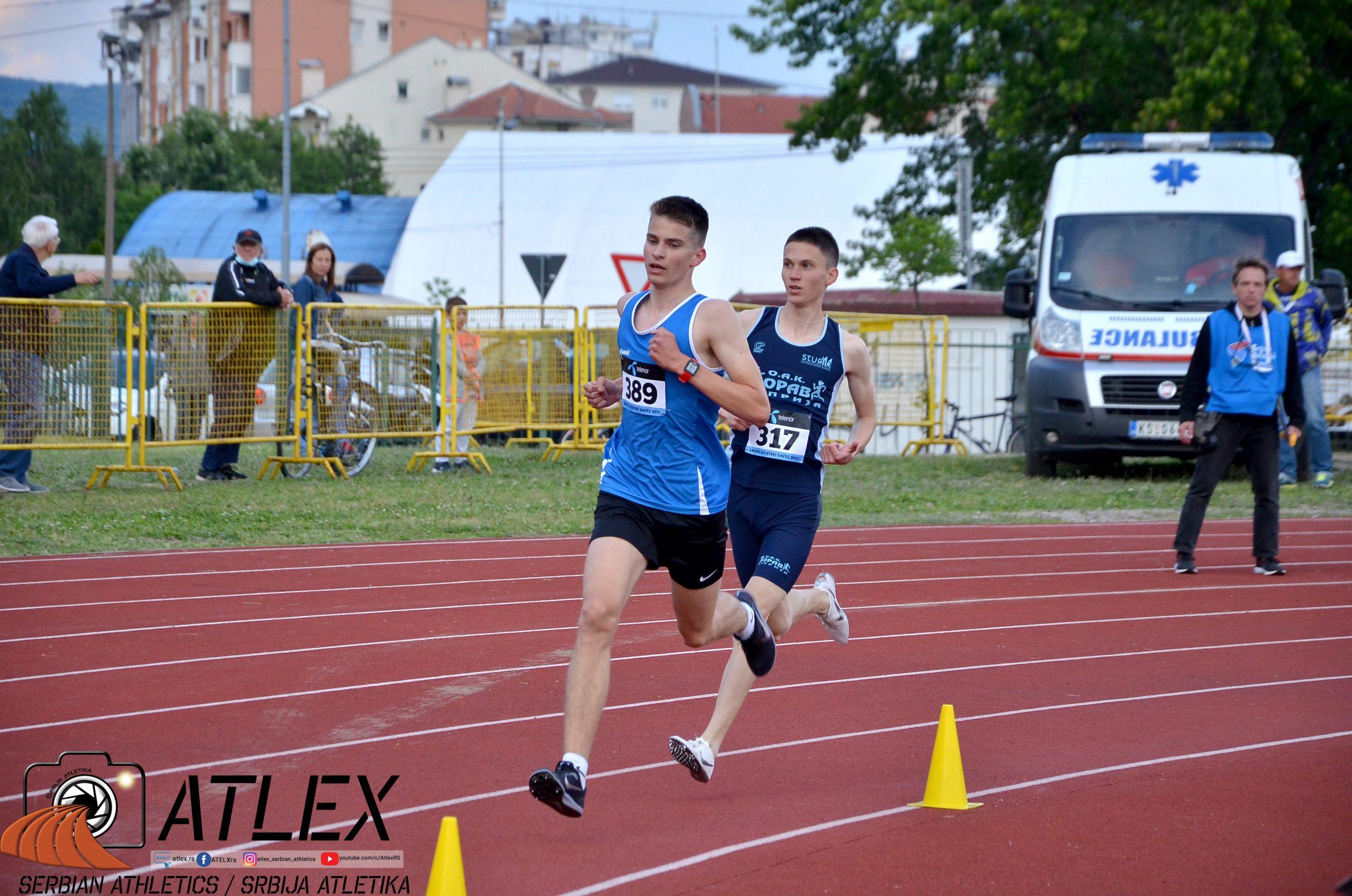 Darijo Bašić Palković i Aleksa Tomić, 800m U20 PS 2021
