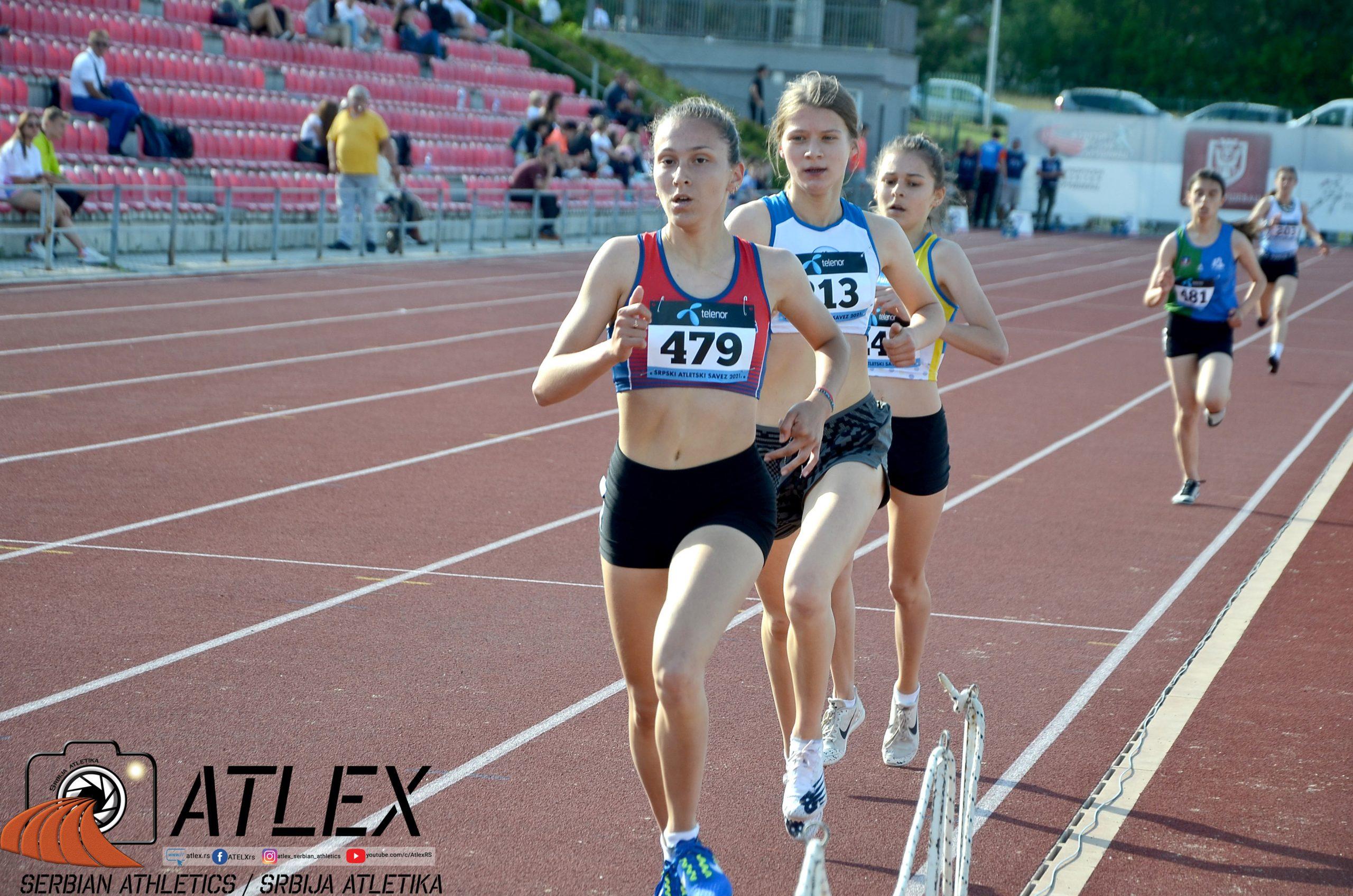 Iva Maletić, Dunja Sikima, 1500m U20 PS 2021