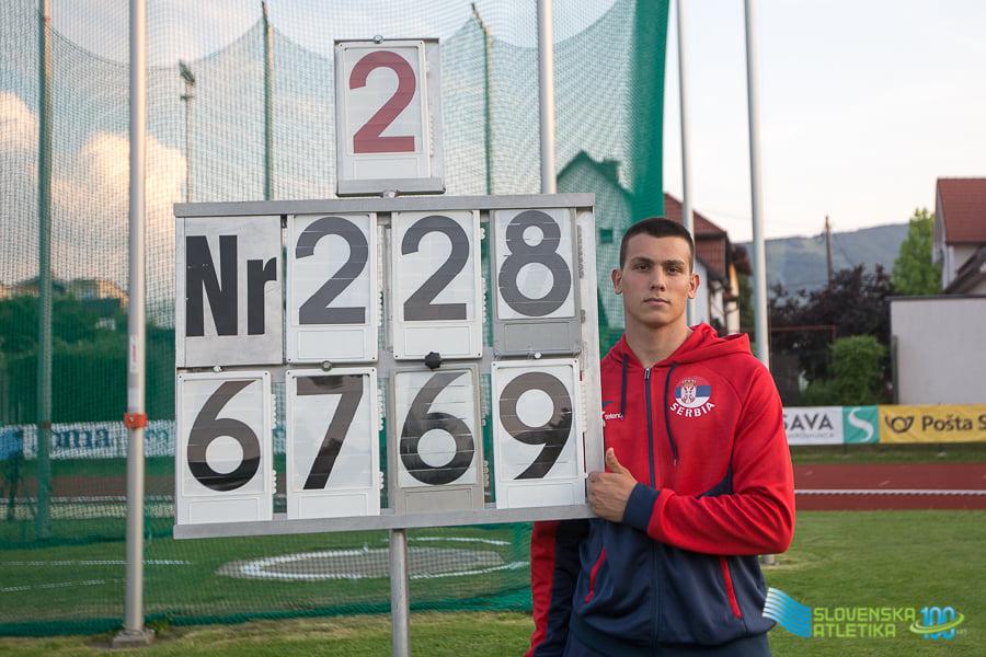 Jovan Stranić, U20 NR, Maribor 2021