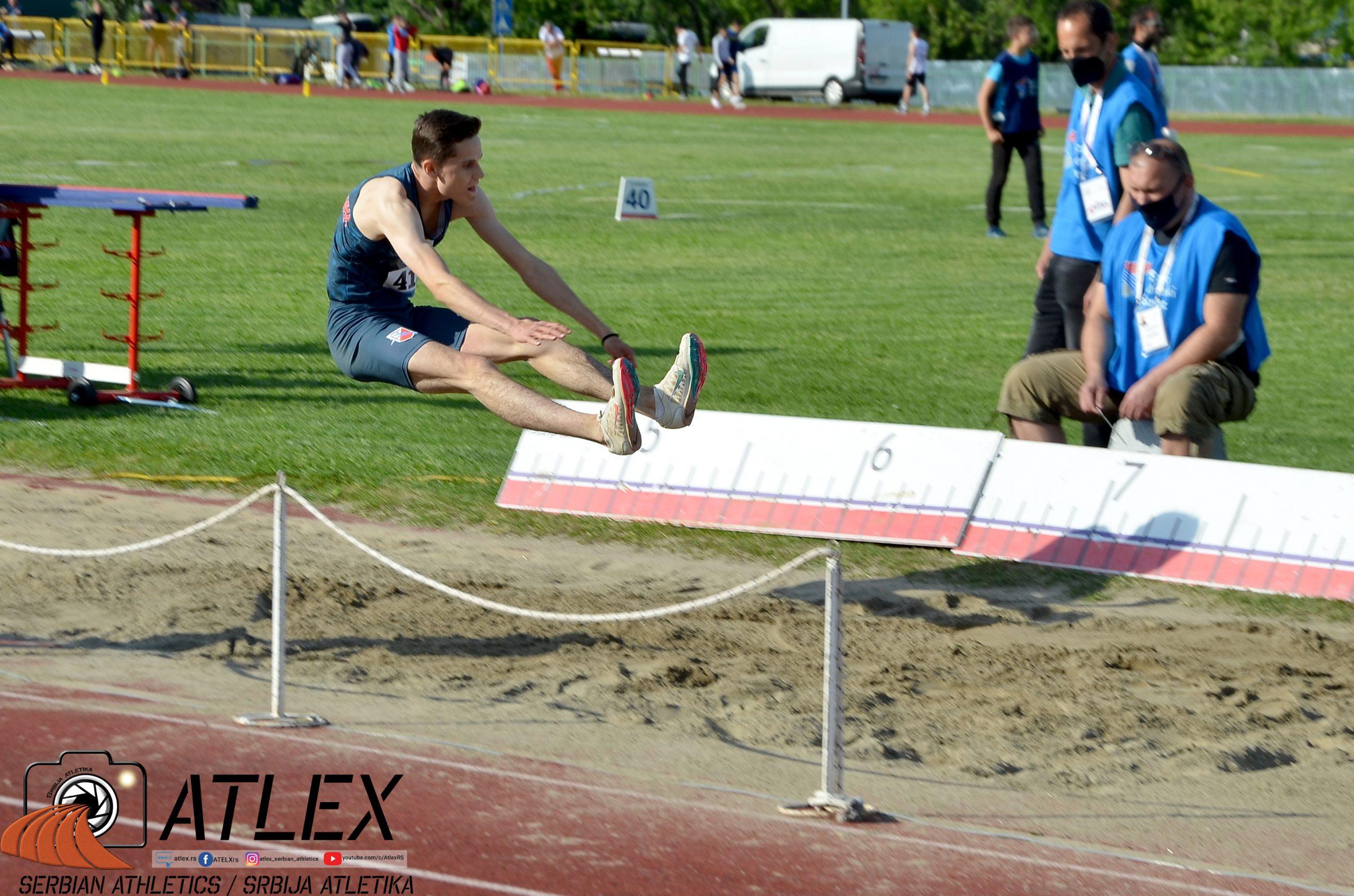 Petar Čanak, skok udalj, U20 prvenstvo Srbije 2021