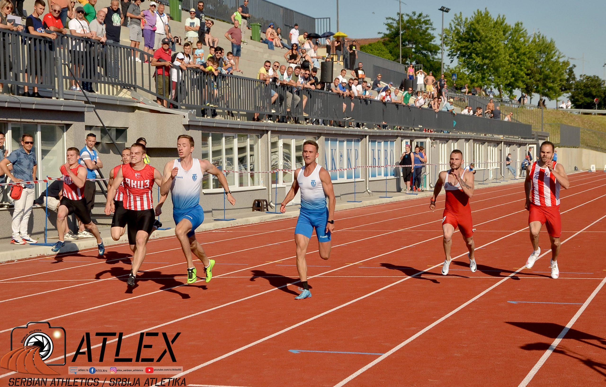 Prvenstvo Srbije 2021 - 100m mškarci finale