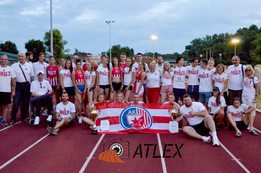 Ekipno prvenstvo Srbije 2021, AK Crvena zvezda