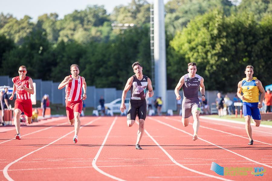 Nikola Kovačević i Filip Ištvanović, 100m finale, Novo Mesto 2021