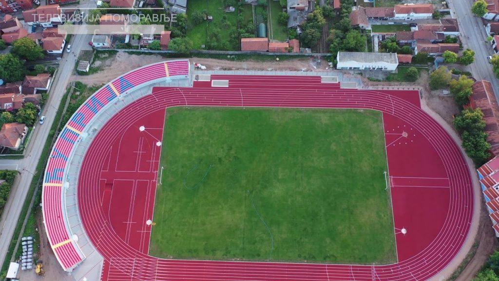 atletski stadion cuprija iz vazduha